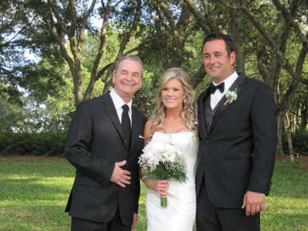 Jack Edmonds with the bride and groom at Black Diamond Ranch Country Club