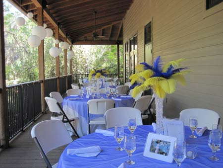 Reception Settings at Kanapaha Botanical Gardens