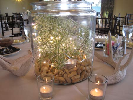 Table Decorations at Black Diamond Ranch Country Club wedding Reception