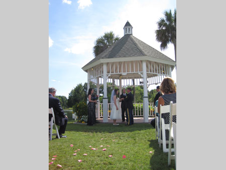 Jack Edmonds performing wedding ceremony service at The Plantation on Crystal River